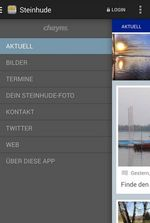 Screenshot der Steinhude-App