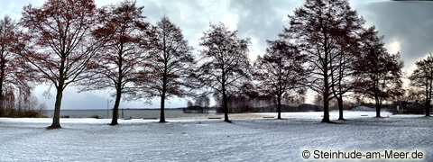 Badeinsel Steinhude, Winterimpression